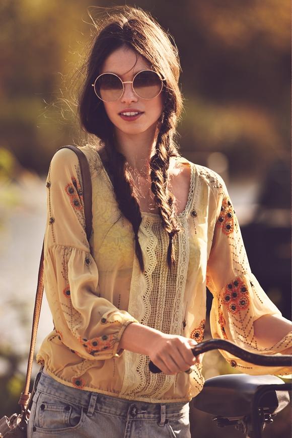 Coafură de zi, inspirată din stilul gypsy, Foto: blog.freepeople.com