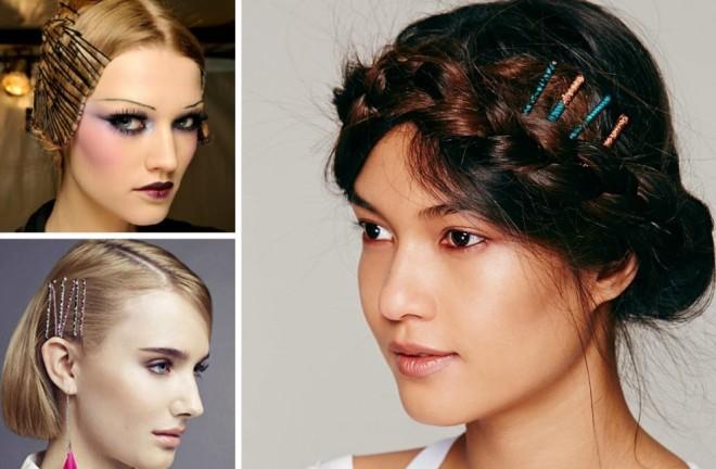 Coafuri cu agrafe de păr, Foto: hairstyles-galaxy.com