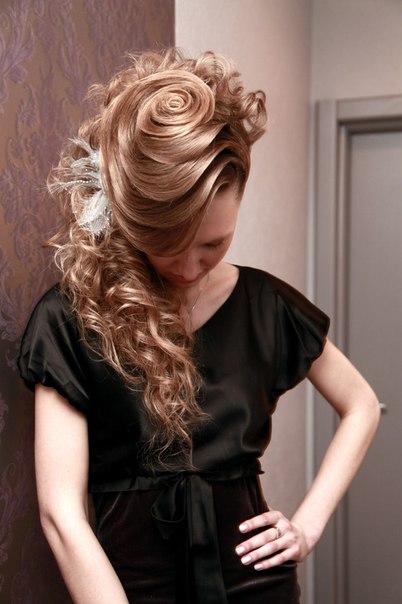 Coafură cu efect de spirală, Foto: vk.com