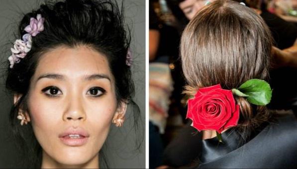 Coafuri cu flori în păr, Foto: hairstyle.com