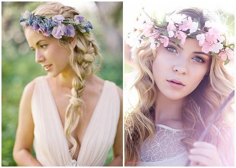 Coafuri cu flori în păr, Foto: frenchweddingstyle.com