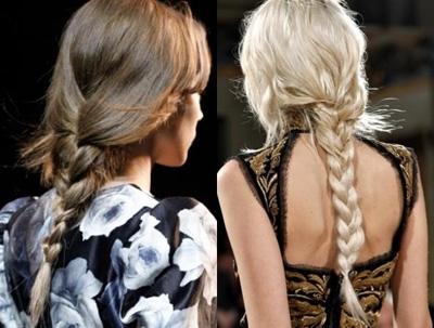 Coafuri cu părul împletit în codiță la spate în colecția Lanvin, Foto: hair.allwomenstalk.com