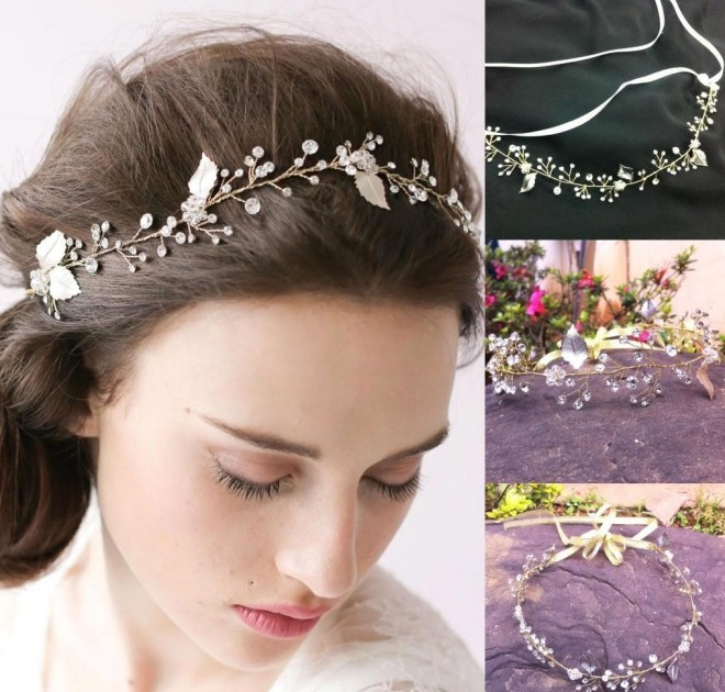 Coroniță romantică de mireasă, Foto: dhgate.com