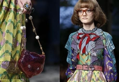 Geantă cu mâner cu perle, ochelari supradimensionali, Foto: quanhta.com.vn