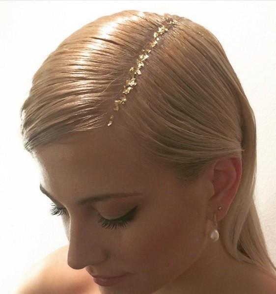 Glitter în păr, cu efect auriu, Foto: diamociuntaglio.myblog.it