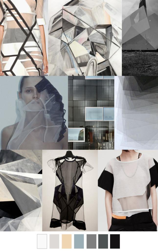 Imprimeuri geometrice, materiale transparente, Foto: fashionvignette.blogspot.mx