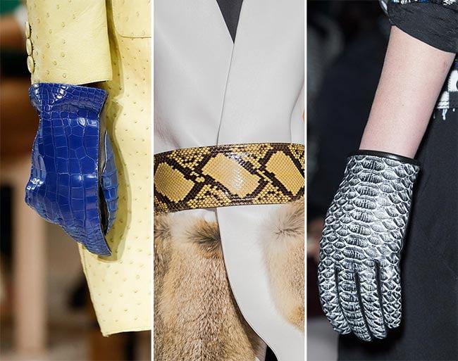 Mănuși din piele de reptile, Foto: fashionisers.com