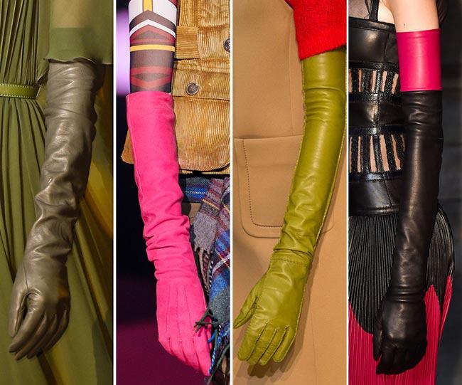 Mănuși foarte lungi din piele, Foto: fashionisers.com