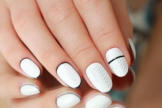 Manichiură alb-negru, Foto: beauty.ua