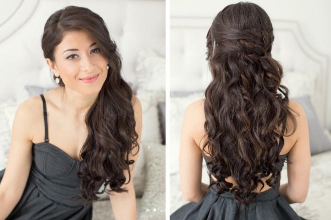 Mod elegant de prindere a părului la spate, Foto: youtube.com