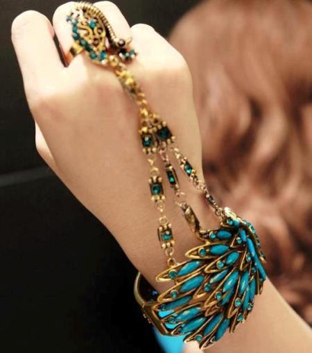Model de bijuteri turcoaz pentru mână, Foto: kadin.in