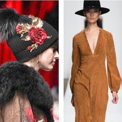 Pălărie cu boruri și fes cu ornamente florale