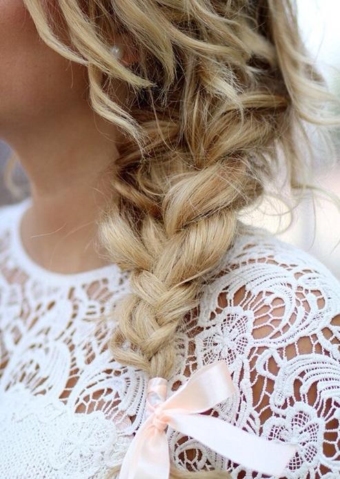 Păr împletit în codiță, Foto: styl.fm
