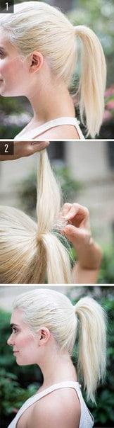 Părul prins în codiță cu volum, Foto: vk.com