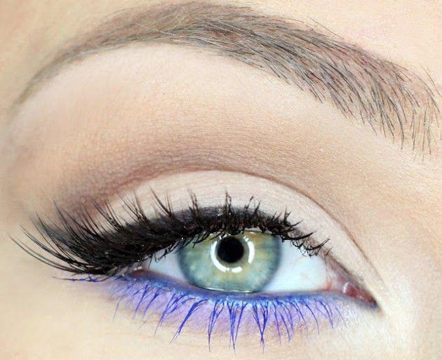 Rimel negru și violet, Foto: lecahier.com