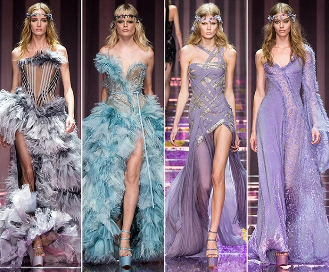 Rochii elegante, diafane, marca Atelier Versace, Foto: fashionisers.com