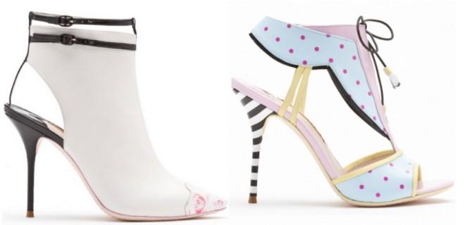 Articole de încălțăminte în culori pastelate, marca Sophia Webster, Foto: bestin.ua