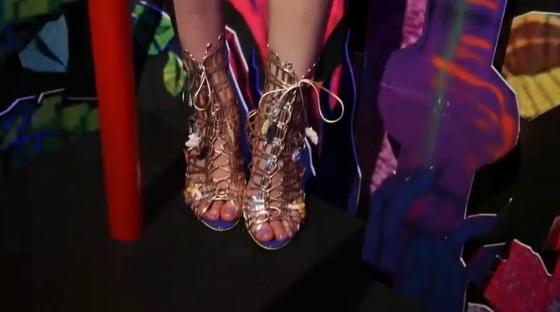 Sandale aurii Sophia Webster