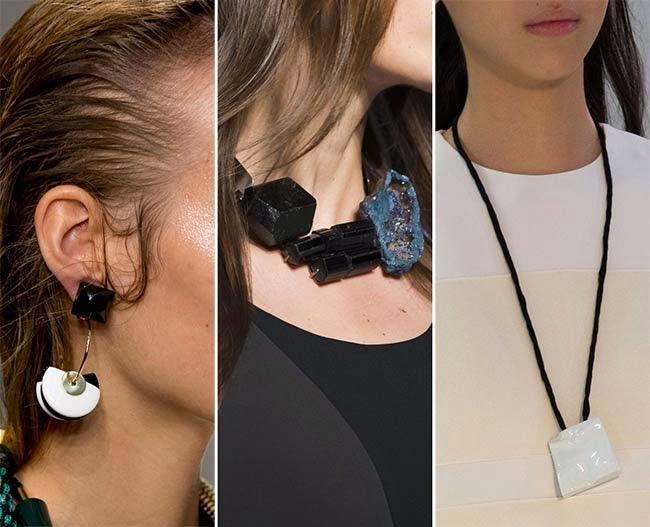 Bijuterii cu pietre și fragmente de roci, Foto: modamelegi.com