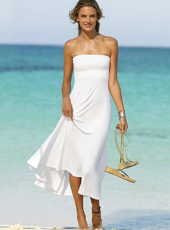 Rochie albă de plajă marca Victoria's Secret, Foto: style4g.com