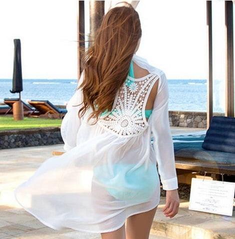 Rochie albă de plajă, Foto: ru.aliexpress.com