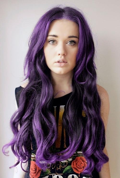 Movul, o culoare de vopsea de păr în trend, Foto: onehallyu.com