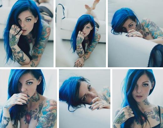 Părul în nuanțe de albastru, Foto: vk.com