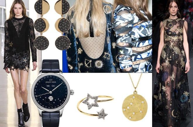 Bijuterii cu accente cosmice, în formă de lună, stea, etc, Foto: http: en.vogue.fr