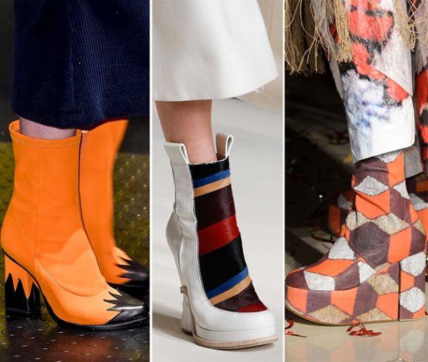 Cizme cu toc gros, cu platformă și elemente decorative, Foto: fashionisers.com
