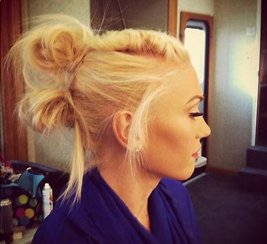 Coafură cu noduri la Gwen Stefani, Foto: worldaccordingtomaggie.com