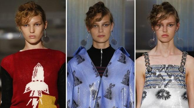 Cercei rotunzi marca Prada, Foto: http: en.vogue.fr
