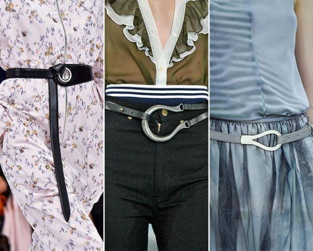 Curele din piele cu partea din față metalică și gri, Foto: fashionisers.com