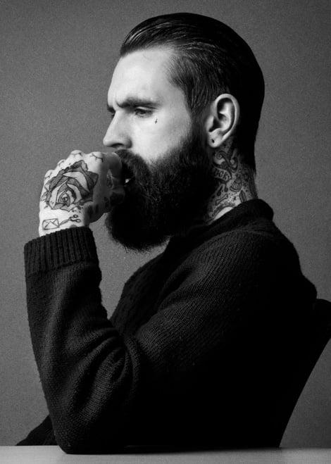 Lumbersexual cu barbă și tatuaje, Foto: pixgood.com