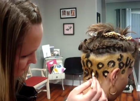 Mod de realizare a petelor tip leopard