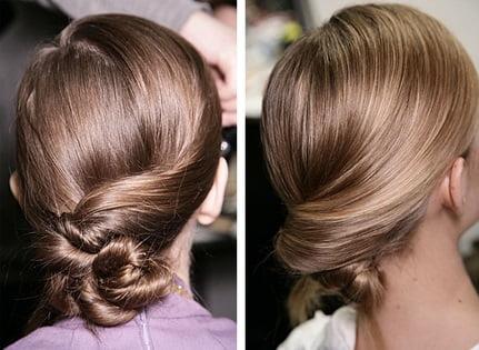 Mod elegant de prindere a părului în coc, Foto: onebiteblog.blogspot.ro