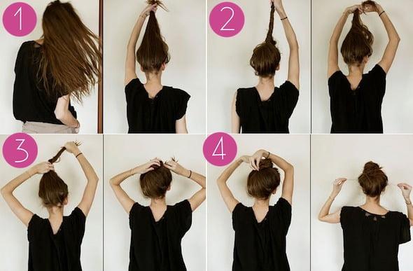 Mod elegant de prindere a părului în coc, Foto: trusper.com