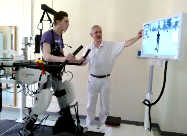 Pacientul se poate vedea virtual pe un ecran