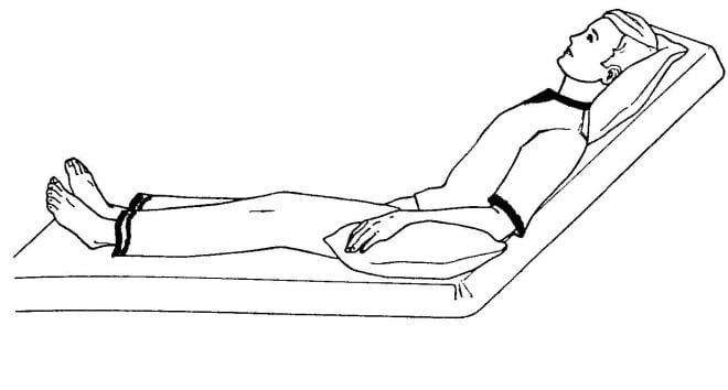 Poziția semișezândă a pacientului, Foto: chirurgiagenerala.ro