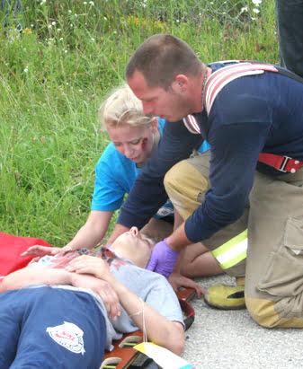 Măsuri de prim ajutor în caz de accident și incendiu, Foto: saugeentimes.com