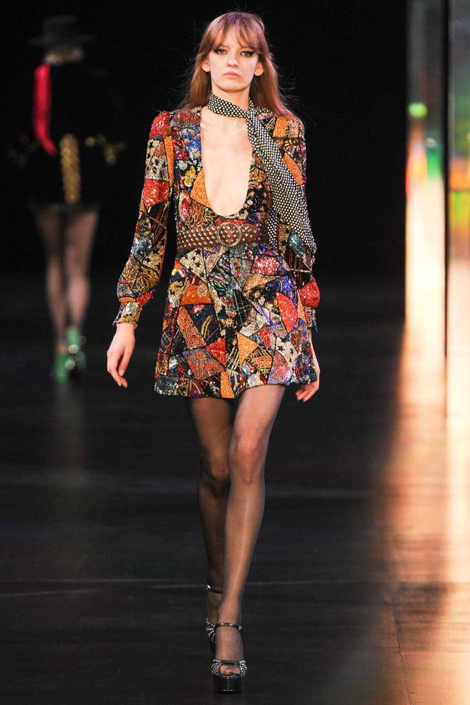 Rochie elegantă marca Saint Laurent, Foto: style.com