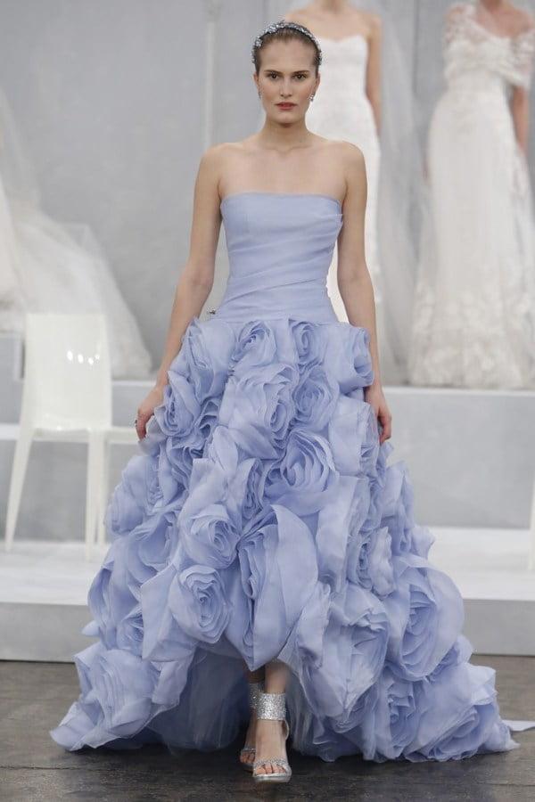 Rochie elegantă pentru mireasă marca Monique Ihuillier, Foto: saltlakebrideandgroom.com