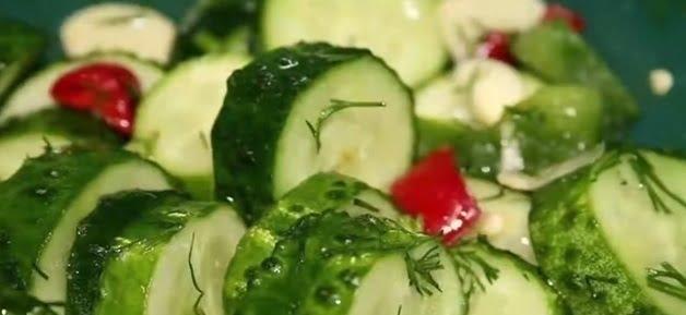Salată cu legume și mărar