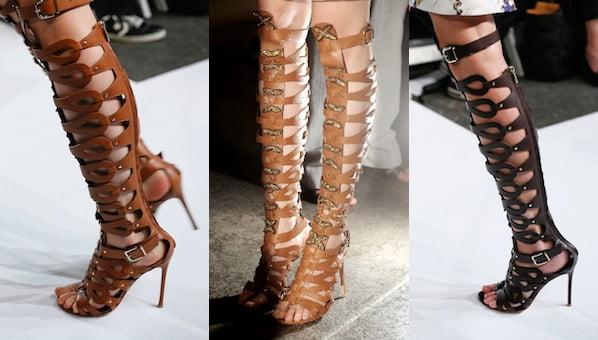 Sandale gladiator cu toc subțire, Foto: luxtogo.com