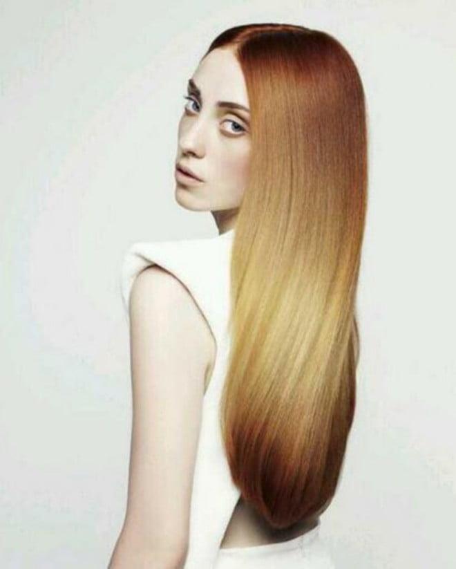 Splashlight, păr drept, Foto: women-hair-styles.com