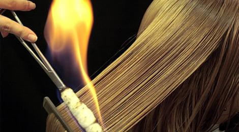 Terapia cu foc netezește firele de păr, sigilează capetele și stimulează creșterea părului, Foto: allures.r
