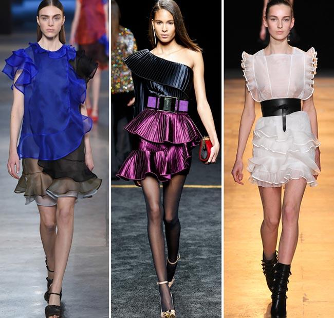Bluze decoltate, transparente, cu volane, genți de mână, pantofi eleganți,  Foto: fashionisers.com