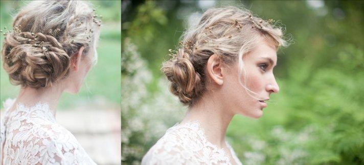 Coafură cu părul prins în coc elegant, Foto: onewed.com