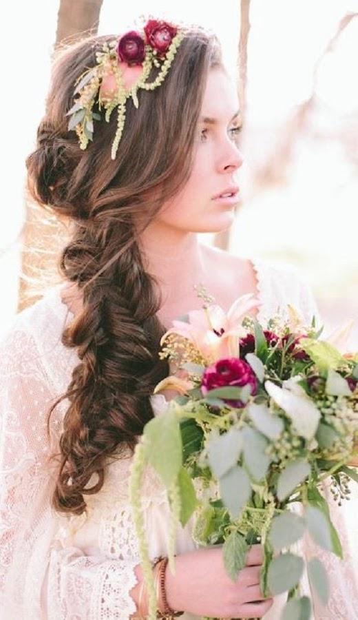 Coafură pentru mireasă cu părul lung, Foto: bodas.facilisimo.com