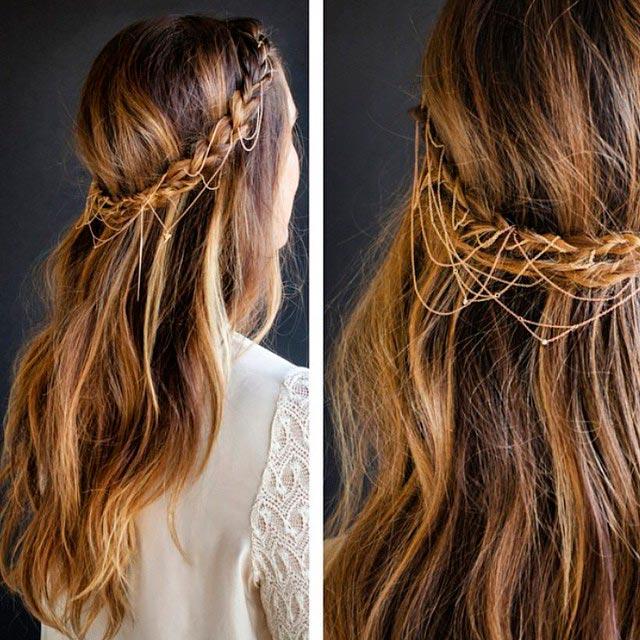 Coafură deosebită pentru păr lung, Foto: fashionmio.com