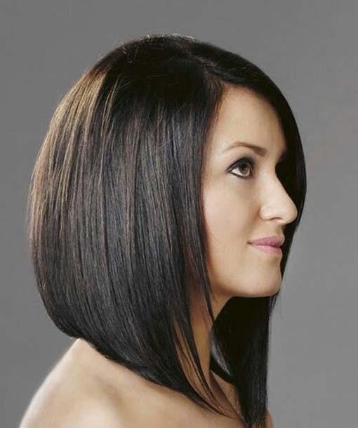 Coafură bob pentru păr negru, Foto: therighthaircut.com